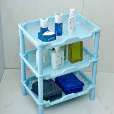 Shelving For Bathroom Amazon Com Yiuhart Plastic Small Storage Shelves Plastic Basket