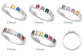 mothers rings gold 2 to 6 stones s ring