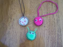 crafts for kids 1st the kids made bottle cap necklaces and