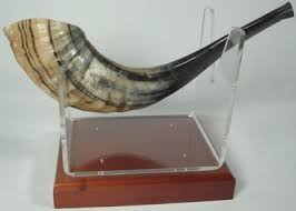 shofar holder j levine books judaica shofar stand wood lucite regular