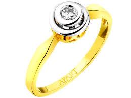 apart pierscionki zareczynowe pierścionek z żółtego i białego złota z brylantem wzór 100 240