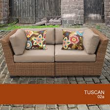 tuscan 2 piece outdoor wicker patio furniture set 02a ebay