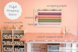 pegboard wrapping station tessie fay