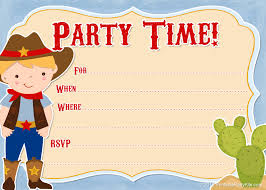 free printable cowboy party invitations from