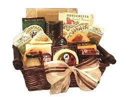 Cheese And Sausage Gift Baskets Buy Deluxe Cheese Sausage Salami Nuts Basket By Goldspan Gift