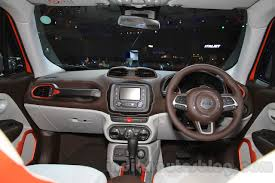 gray jeep renegade interior jeep renegade limited dashboard at the indonesia international