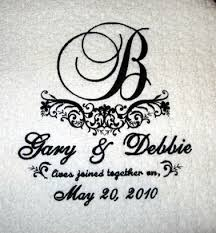 personalized wedding blankets embroidered formal wedding gift