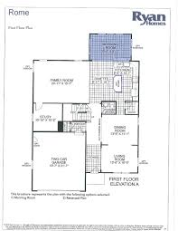 ryan homes floor plans ranch home rome model plan particular