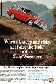 kaiser jeep wagoneer 1966 jeep wagoneer truck car ad vintage red four 4 wheel