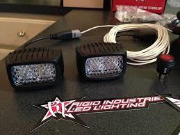 rigid industries backup light kit rigid industries srm back up light kit snake racing youtube