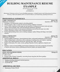 Maintenance Resume Sample by Job Resume Jobresumes On Pinterest