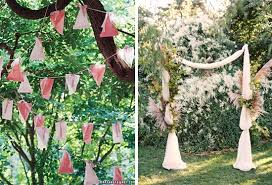 wedding backdrop garland roundup 20 amazing diy outdoor wedding ideas curbly