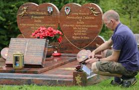 how much does a headstone cost stonemason tears headstone in grave repossession as family