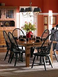 Attic Heirlooms Windsor Dining Side Chair In Black By Broyhill - Broyhill dining room set