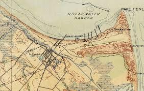 Map Delaware Old Map Of Delaware Bay 1918 Delaware Bay Map Antique Map