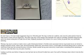 craigslist engagement rings for sale craigslist ring ad may be the funniest you ll read photo