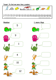 editable 1 more than worksheets with dinosaurs by pandapop25