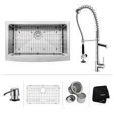 Kitchen Faucet Black Finish Stainless Steel Kitchen Sink Combination Kraususa Com