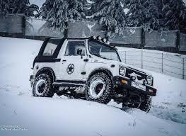 offroad snow winter white suzuki jeep mountains passion