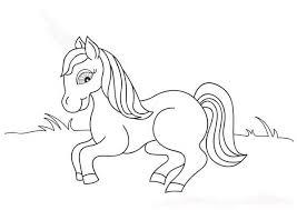 cute pony horses coloring download u0026 print