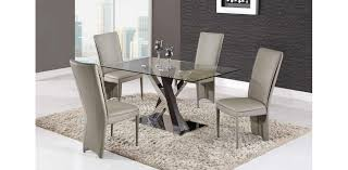Dining Room Furniture Usa D6605dc Table 4 Taupe Chairs Global 5pc