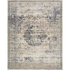 villa medallion dark blue and tan area rug 8 u0027 x 10 u0027 free