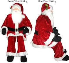 amazon com vickerman huge life size decorative plush santa claus