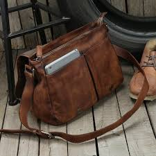 leather travel bags images Handmade unisex messenger bag top grain leather travel bag jpg