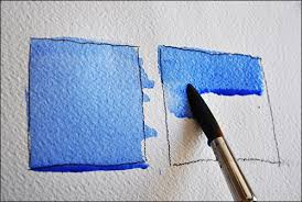 how to paint a perfect flat wash on wet or dry paper using