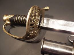 early home decor antique style 1860 light cavalry saber carbon steel sword union us