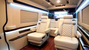 luxury minivan interior mercedes benz sprinter tailgate edition hq custom design