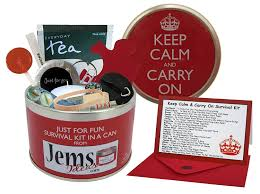 Great Christmas Gift Ideas For The Boss Keep Calm U0026 Carry On Survival Kit In A Can Humorous Fun Gift For A