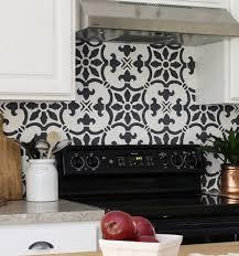 kitchen stencil ideas a diy stenciled kitchen backsplash the fabiola tile stencil