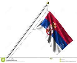 Flag Of Serbia Isolated Serbian Flag Stock Illustration Illustration Of Textile