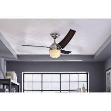 Hunter 54 Ceiling Fan by Shop Hunter Eurus 54 In Brushed Nickel Downrod Mount Ceiling Fan