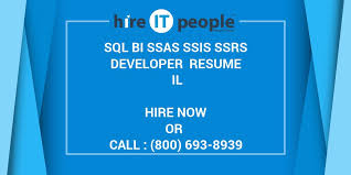 Msbi Experienced Resumes Sql Bi Ssas Ssis Ssrs Developer Resume Il Hire It People We