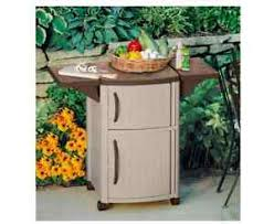 Patio Serving Table Suncast Outdoor Patio Cart Bbq Grill Prep Serving Station Portable