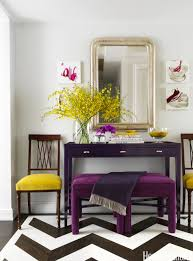 Home Entrance Decor Ideas Bold And Eclectic Entryway With A Gold Framed Mirror Antler Decor