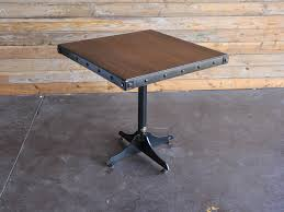 Industrial Bistro Table Cafe Table Vintage Industrial Furniture