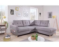 canapé nordique oslo l canapé d angle droit gris clair au design nordique