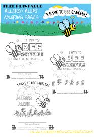 bumble bee food allergy coloring pages lil allergy advocates