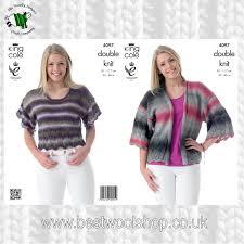 4097 king cole country tweed dk kimono style cardigan jacket