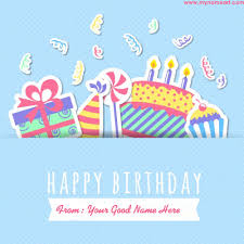 friend name written on new birthday wishes card online wishes