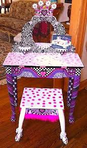 Girls Vanity Table And Stool 72 Best Diy Little Girls Vanity U0026 Play Makeup Images On Pinterest