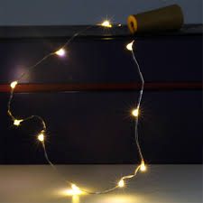 Cool White Led String Lights by 1m 10leds 2m 20leds Garland On Batteries Silver Wire Cool White