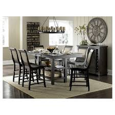 counter height dining room sets willow rectangular counter height dining table distressed black
