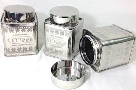 silver kitchen canisters decorative kitchen canisters and jars