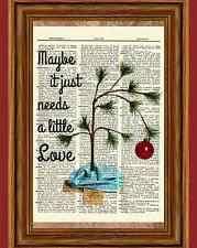 brown christmas poster brown christmas tree ebay