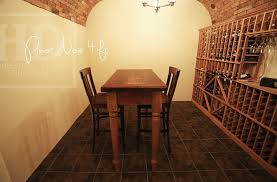 wine cellar table custom wine cellar table in niagara ontario basement blog