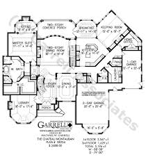 Duplex Floor Plans With 2 Car Garage by French Chateau Home Plans